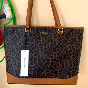 Brand new Brown monogram CK handbag